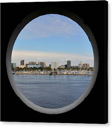 Looking Through The Queen's Porthole Canvas Print by KJ Swan
