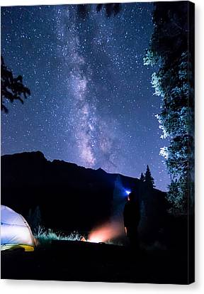 Looking Up At Milky Way Canvas Print by Michael J Bauer