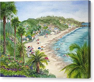 Lookout Over Laguna Beach Canvas Print by Bonnie Sue Schwartz