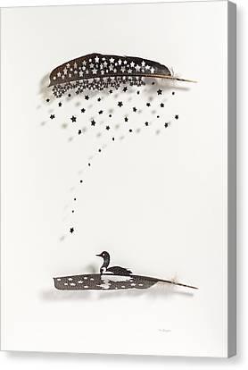 Loon Star Canvas Print by Chris Maynard