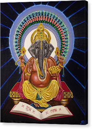 Lord Ganesha Canvas Print by Adrienne Martino