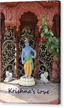Lord Krishna Canvas Print by Vijay Sharon Govender