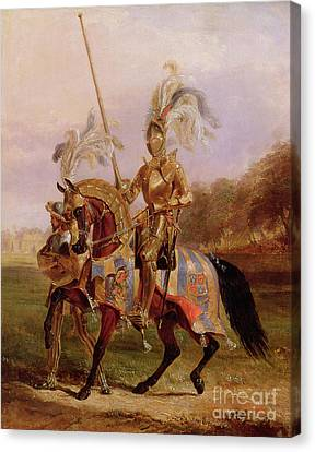 Lord Of The Tournament Canvas Print by Edward Henry Corbould