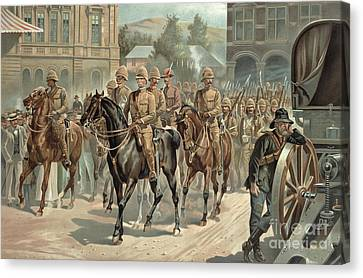 Lord Roberts Entry Into Pretoria Canvas Print by Richard Caton Woodville