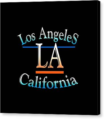 Los Angeles California Tshirt Design Canvas Print by Art America Online Gallery
