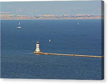 Los Angeles Harbor Light - Angel's Gate - California Canvas Print by Christine Till