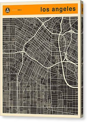Los Angeles Map Canvas Print by Jazzberry Blue