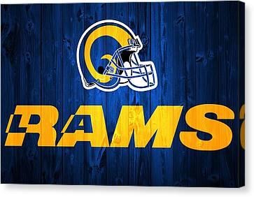 Los Angeles Rams Barn Door Canvas Print by Dan Sproul