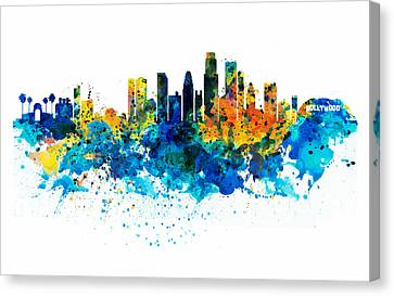 Los Angeles Skyline Canvas Print by Marian Voicu
