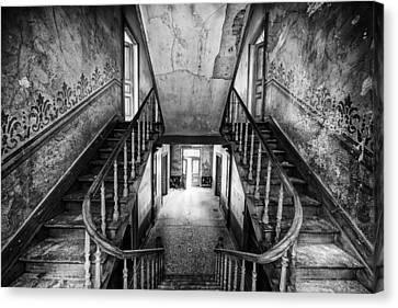 Lost Glory Staircase - Abandoned Castle Canvas Print by Dirk Ercken