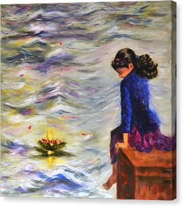 Lost In Reverie Canvas Print by Uma Krishnamoorthy