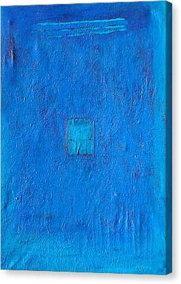 Lost In The Blue Canvas Print by Habib Ayat