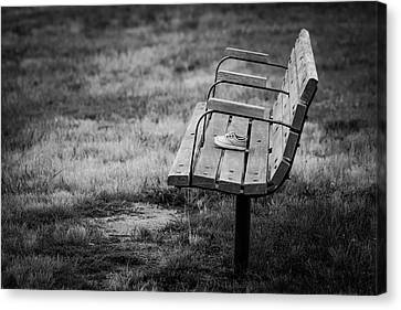 Lost Soles Bench Minimalist Canvas Print by Terry DeLuco
