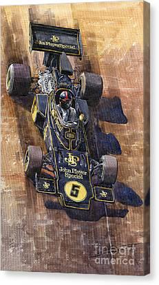 Lotus 72 Canadian Gp 1972 Emerson Fittipaldi  Canvas Print by Yuriy  Shevchuk