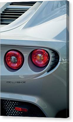 Lotus Elise Taillight Canvas Print by Jill Reger