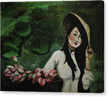 Lotus Canvas Print by Kim Selig
