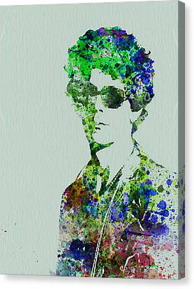 Lou Reed Canvas Print by Naxart Studio
