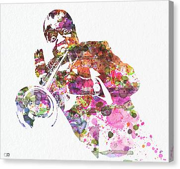 Louis Armstrong 2 Canvas Print by Naxart Studio