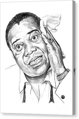 Louis Satchmo Armstrong Canvas Print by Murphy Elliott