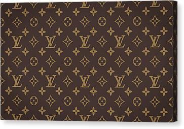 Louis Vuitton Texture Canvas Print by Taylan Soyturk