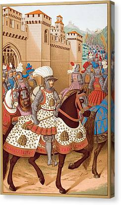 Louis Xii And His Army Leaving Canvas Print by Vintage Design Pics