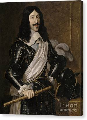 Louis Xiii Of France Canvas Print by Philippe de Champaigne