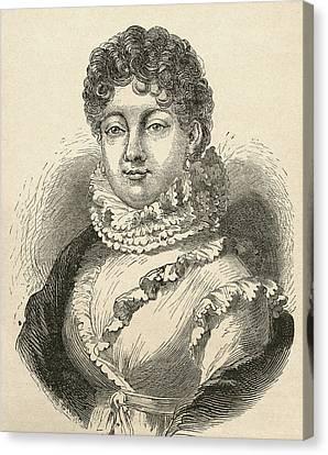 Louise-rosalie Lefebvre, 1755 Canvas Print by Vintage Design Pics