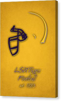 Louisiana State Tigers Helmet 2 Canvas Print by Joe Hamilton
