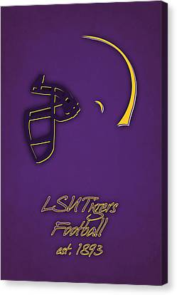 Louisiana State Tigers Helmet Canvas Print by Joe Hamilton