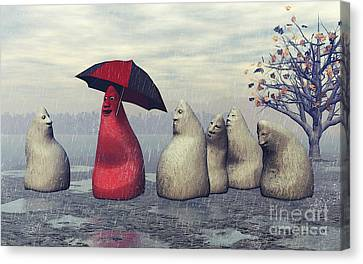Lousy Weather Canvas Print by Jutta Maria Pusl