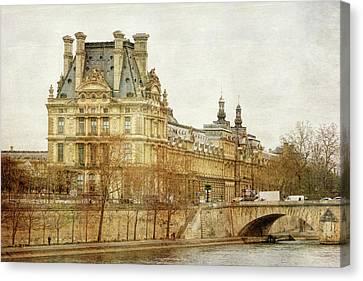 Louvre Museum Canvas Print by Joan Carroll