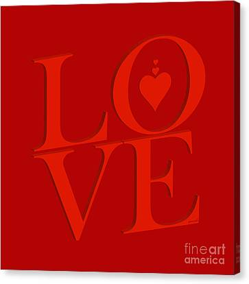 Yes Valentine Love M23 Canvas Print by Johannes Murat