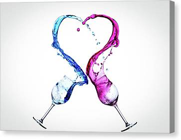 Love A Glass Or Two Canvas Print by Mark A Hunter