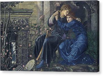 Love Among The Ruins Canvas Print by Edward Burne-Jones
