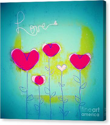 Love Art - 144a Canvas Print by Variance Collections