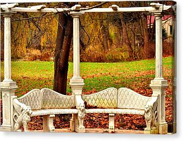 Love Bench Canvas Print by Puzzles Shum