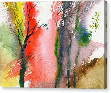 Love Birds 2 Canvas Print by Anil Nene