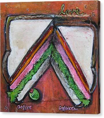 Love For Ham Sandwich Canvas Print by Laurie Maves ART
