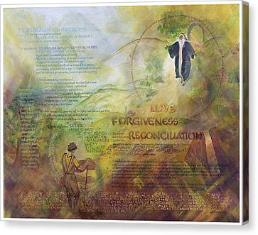 Love Forgiveness Reconciliation Canvas Print by Judy Dodds