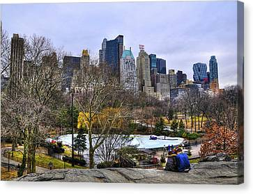 Love In Central Park Too Canvas Print by Randy Aveille