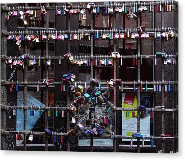 Love Locks At Juliet's House Canvas Print by Keith Stokes