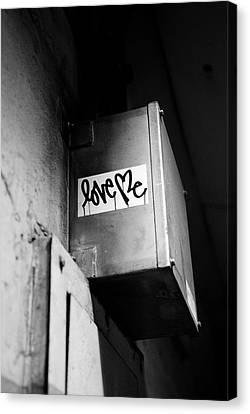 Love Me Canvas Print by Dean Harte
