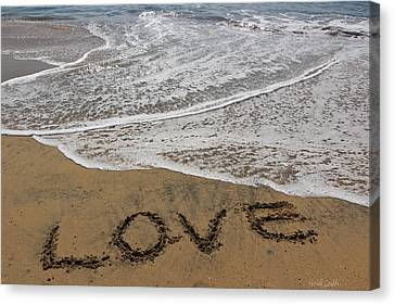 Love On The Beach Canvas Print by Heidi Smith