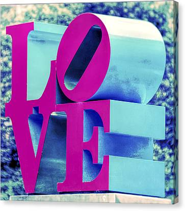 Love Philadelphia Neon Pink Canvas Print by Terry DeLuco