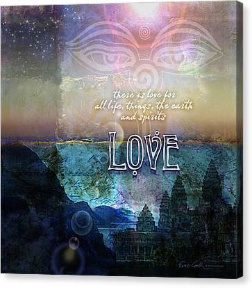 Love Spiritual Canvas Print by Evie Cook