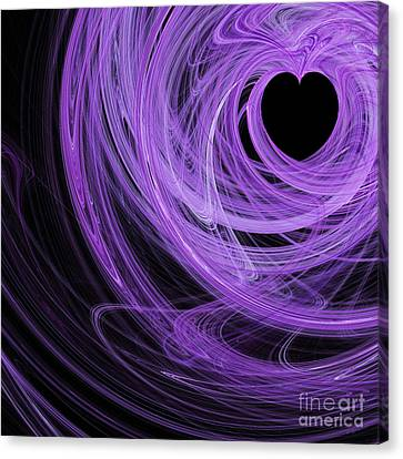 Love Swirls . Square . A120423.689 Canvas Print by Wingsdomain Art and Photography