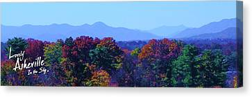 Lovely Asheville Fall Mountains Canvas Print by Ray Mapp