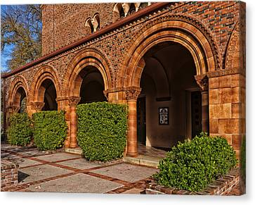 Lovely Campus Building - Cal State University At Chico Canvas Print by Mountain Dreams