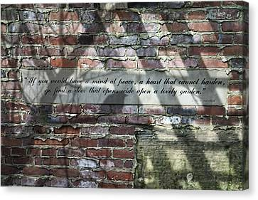 Lovely Garden Wall Canvas Print by Tom Mc Nemar