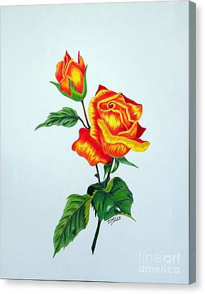 Lovely Rose Canvas Print by Terri Mills